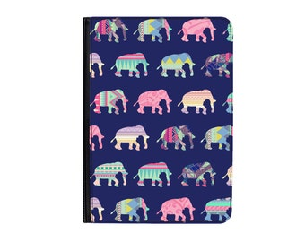 """Patchwork Elephants Pattern Universal 7"""" PU Leather Case Cover- Kindle Fire / HD / HDX - Samsung Galaxy Tab 1 2 3 4 - Asus Lenovo Plus More"""