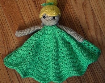 Crocheted Tinkerbell Inspired Lovey Doll