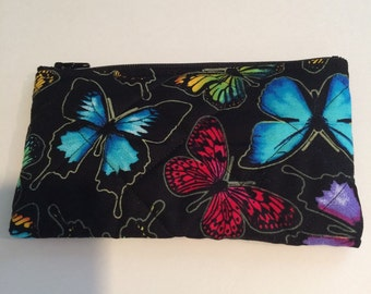 Colorful butterflies coin purse