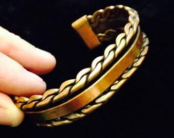 Now On Sale Vintage Woven Copper Bracelet
