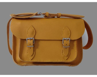 Satchel Yellow Satchel Leather Satchel Yellow Leather Satchel