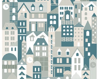 Town, limited edition giclée print A4