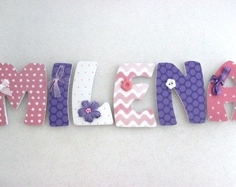 Wooden letters for child