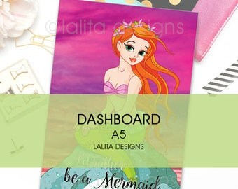 Filofax Kikki K Printable Mermaid Dashboard A5 Size
