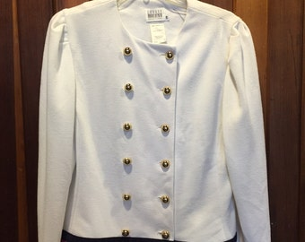 LESLIE FAY COLLECTIONS // Marching Band Jacket w/ Brass Buttons