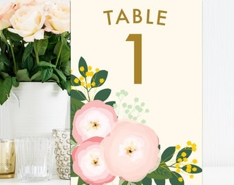 Custom Wedding Table Numbers, Contemporary Wedding Table Numbers, Bespoke Wedding Day Stationery, Wedding Table Name Cards
