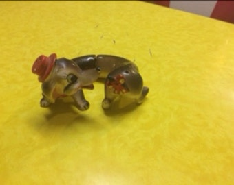 Vintage Salt and Pepper Shaker Set Dachshund Wiener Dog