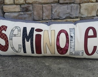 Made to Order Seminoles Gameday Applique Pillow