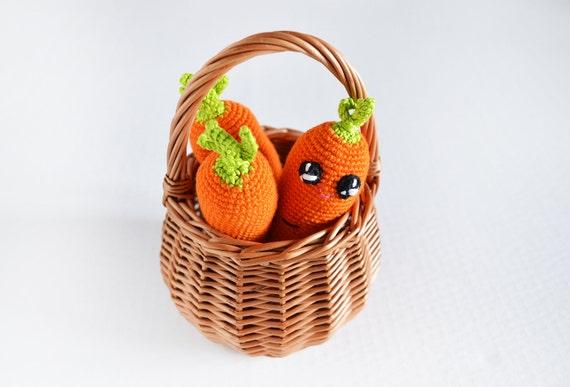 Amigurumi Toys For Babies : Amigurumi orange carrot / Crochet baby toy by ...