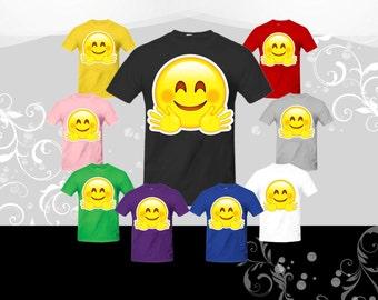 Hugging Face Emoji T-shirt (U+1F917)