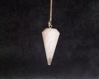 Long Pink Crystal Pendant
