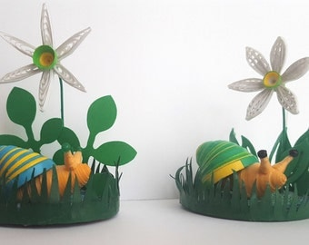 3D nature scene: snail and narcissus