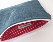 Denim Pouch - Upcycle - Jean Pouch - Zippered Pouch - Makeup Bag - Pencil Pouch - Organizer - Eco-Friendly Pouch - Cosmetic Bag - Distressed
