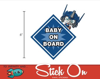 Transformer Optimus Prime Baby on Board Decal