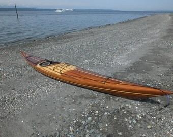 """17'6"""" Cedar Strip Kayak"""