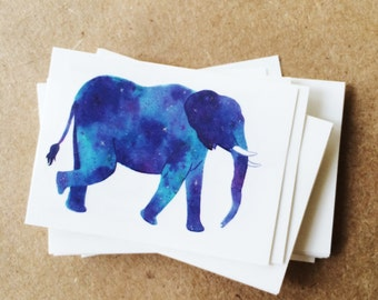 elephant tattoos galaxy watercolor drawing alabama elephant blue purple tattoos for kids childrens temporary tattoos valentines day gift
