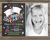 Slumber Party Invitation Pajamas Birthday invite Girl party Sleepover Invitation spa sleepover Invitation photo Digital Printable ANY AGE