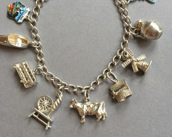 Stirling silver Charm Bracelet
