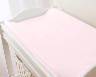 Carousel Designs Solid Pink Changing Pad Cover