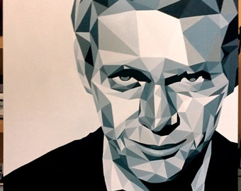 "Acrylic on canvas ""Steve McQueen"""