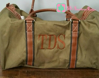 Monogrammed FOREST Men's Duffle Bag