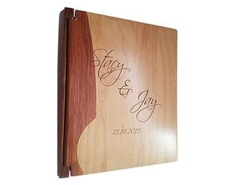 Beautiful Maple & Rosewood Photo Album - Custom Photo Album - Engraved Photo Album -Wedding Gift - Baby Gift - Baby Album -Wedding Album