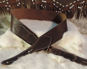 Banjo- Mandolyn handmade leather musicians strap