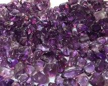 Siberian Amethyst Tumbled Gemstones USA Mine, Four Peaks Arizona, Magenta Flash, Rare Crystals, Transformation, Prosperity, Abundance, Love,