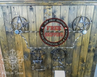 All 3 pieces for the bathroom, called'' Witch''house,witch,wicca,pagan,pentacle, toilet,holder,star,bathroom,decoration, victorian,magic