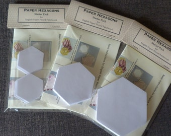 Quilting Paper Hexagons - English Paper Piecing Starter Pack