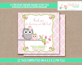 Owl Shower Favors, Owl Baby Shower Favors, Owl Baby Shower,  Owl Baby Shower Printables  (#433)
