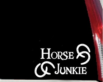 Horse Junkie Vinyl Decal for Vehicle or Trailer