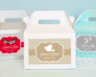 Personalized Wedding Favors-Wedding Favor Container-Mini Gable Boxes-Wedding Favor Boxes (Set of 24)