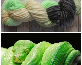 Hand Dyed Bulky Yarn - Python