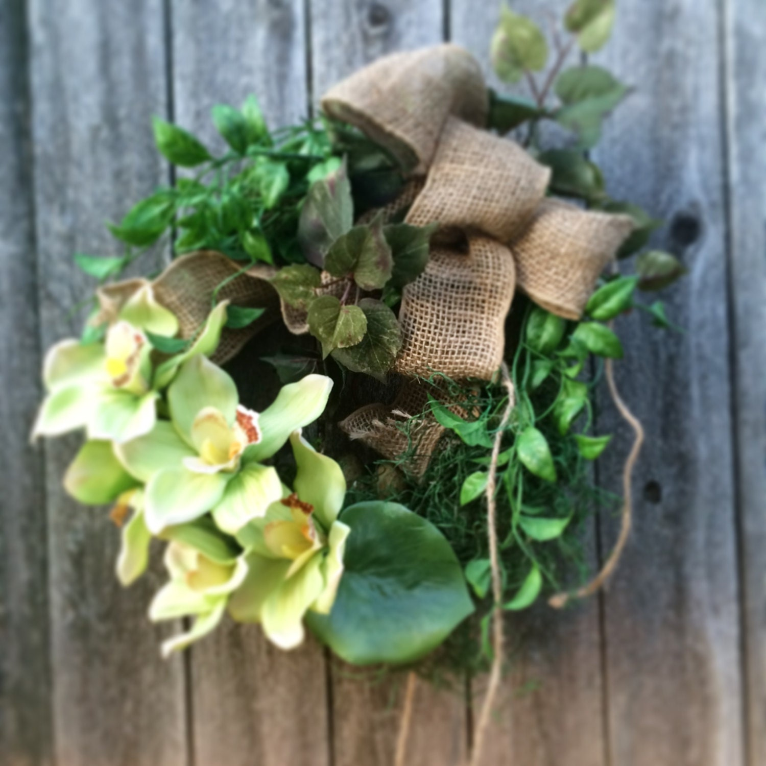 Indoor Wreaths Home Decorating: Orchids Wreaths. Unique Moss Wreath Indoor Decor Home Decor