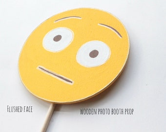 Flushed Face emoji Emoji Party Supplies, Emoji Party Decorations, Emoji Photo Booth Props, Photo Booth Sign, Photo Booth Props Birthday