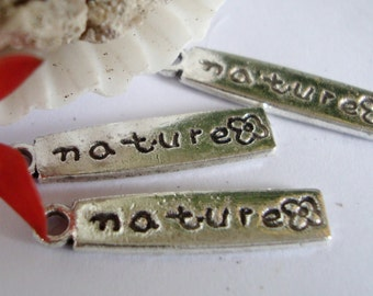Nature Word Charms, 3pcs