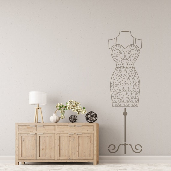 Bohemian Feather Wall Stencil Reusable Stencils For Home: Wire Female Mannequin Stencil For Wall Art DIY Decor Better