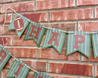 Football Banner, Football Birthday, Birthday Photo Prop, Football party, Happy birthday banner, Sports party, Super Bowl Party