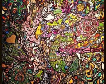 Painting - mixed media