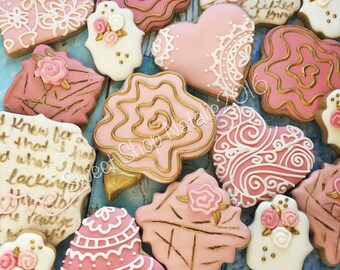 Vintage Wedding cookies