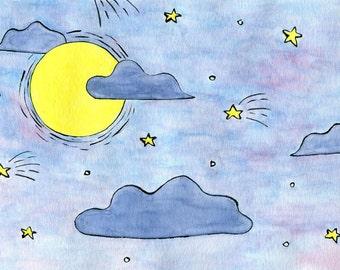 pastel sky postcard 4x6