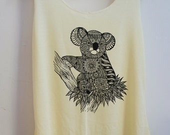 CLEARANCE Koala Shirt Vintage Tank Top Art  T-Shirt  Shirt Shirt Women Moon  Shirt  Women T-Shirt Tunic Top Size S,M,L