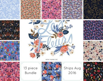 Rifle Paper Co One Yard Les Fleurs Bundle by Cotton and Steel - 11 prints