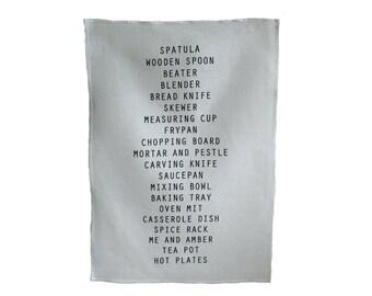kitchen linen tea towel