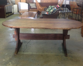 Antique Trestle Style Farm Table