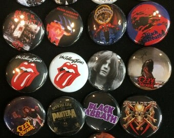 003 Glam Heavy Metal Hard Rock Southern Button, Pin, Badge