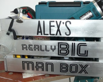Handmade, personalised really big man box for storage