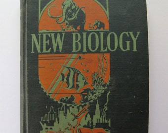 New Biology. Vintage science book by W. M. Smallwood, et al. 1949. Black, green, and orange. Gorgeous cover and spine.