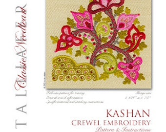 "Talliaferro's ""Kashan"" crewel embroidery kit"
